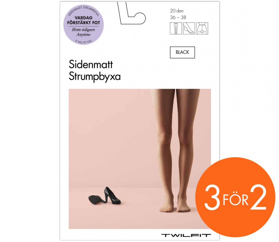 Strumpbyxor Sidenmatta 20 den (Anytime) from Strumpor 3 för 2 in Basic