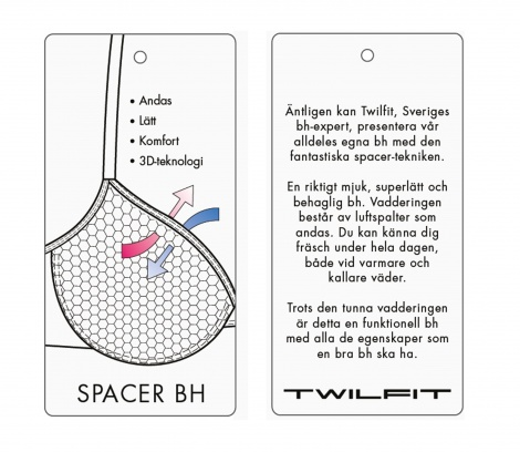 T-shirt BH Iris Spacer from T-Shirt BH in Favoriter BH